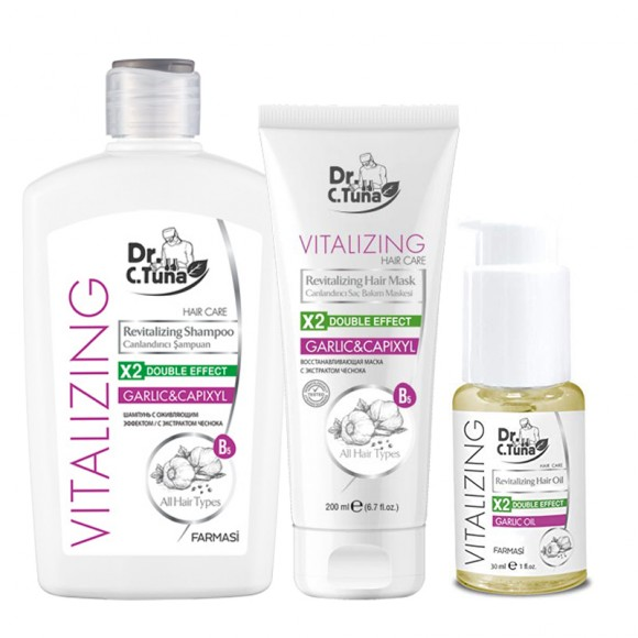 Farmasi Tunisie Pack Vitalizing Shampoing & Masque Cheveux Ail Reference 1108062 et 1108065 et 1104166