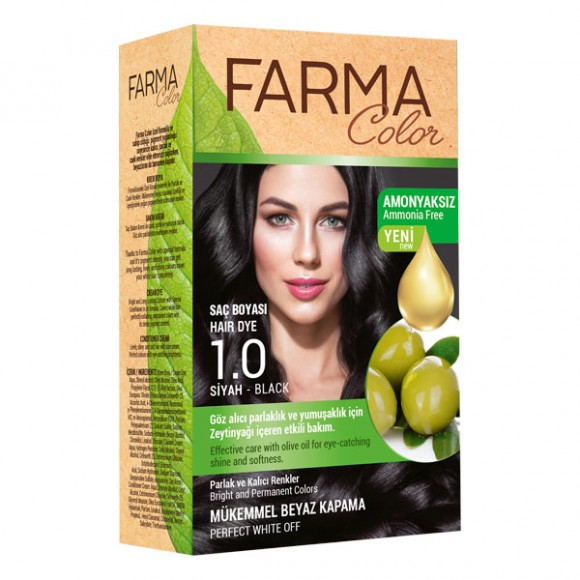 Farmasi Tunisie Teinture cheveux Farmasi Farma Color 1.0 Noir Référence 7090226