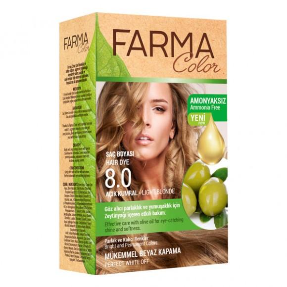 Farmasi Tunisie Teinture cheveux Farmasi Farma Color 8.0 Blond Référence 7090232