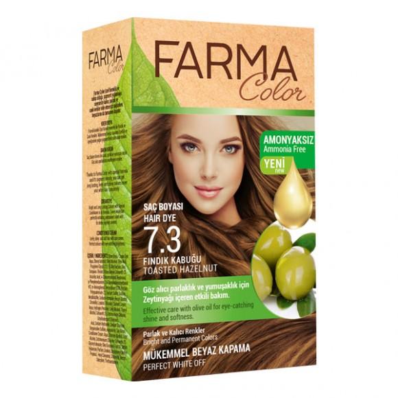 Farmasi Tunisie Teinture cheveux Farmasi Farma Color 7.3 Noisette Référence 7090237
