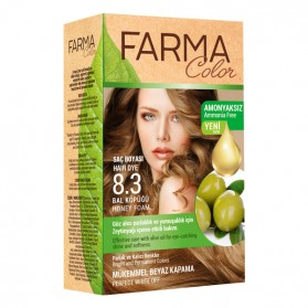 Teinture cheveux Farmasi Farma Color 8.3 Miel