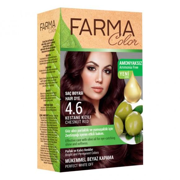 Farmasi Tunisie Teinture cheveux Farmasi Farma Color 4.6 Chatin Rouge Référence 7090239