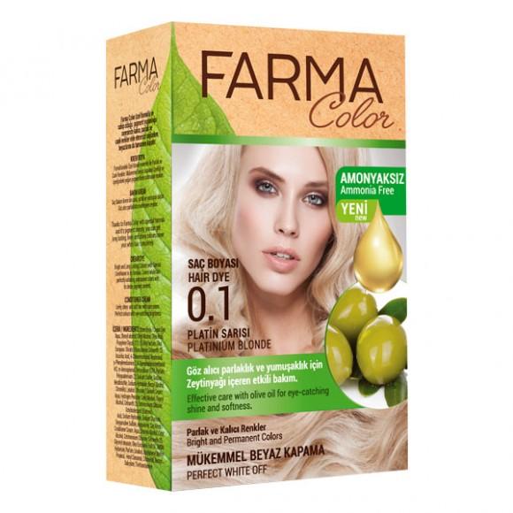 Farmasi Tunisie Teinture cheveux Farmasi Farma Color 0.1 Platin Référence 7090235