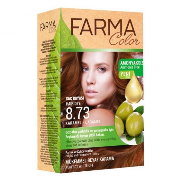 Farmasi Tunisie Teinture cheveux Farmasi Farma Color 8.73 Caramel Référence 7090240