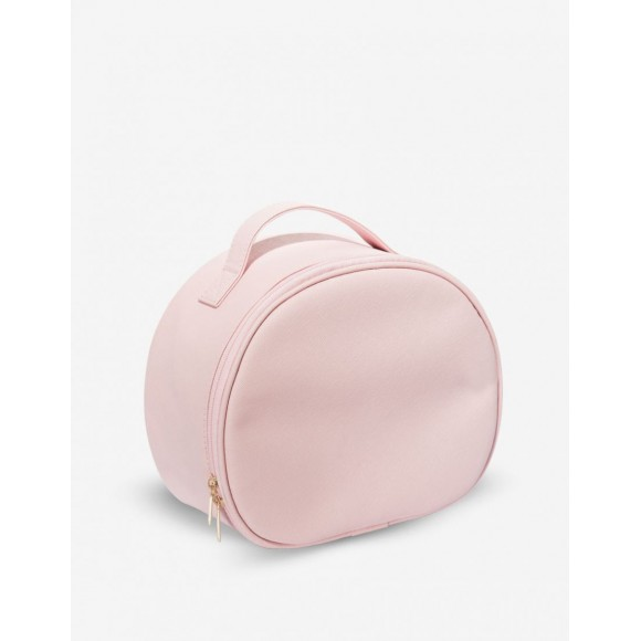 Trousse maquillage cuir rose