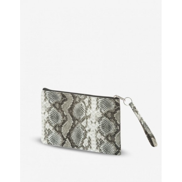 Trousse maquillage serpent gris