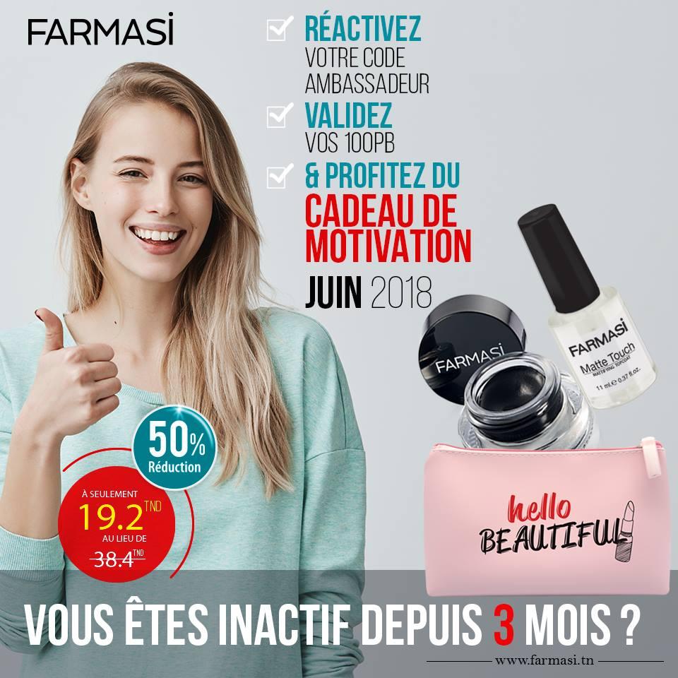 Box de motivation farmasi tunisie mois juin 2018