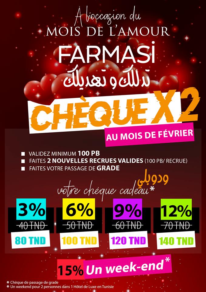 Challenge Farmasi Tunisie Double Chèque Passage de grade mois février 2019