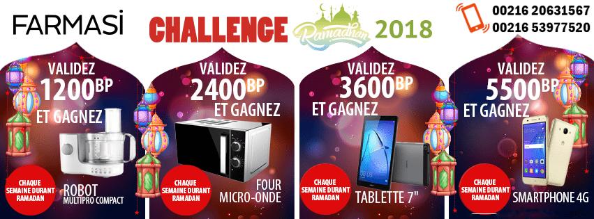 Challenge Farmasi Tunisie Algérie Libye Ramadan 2018