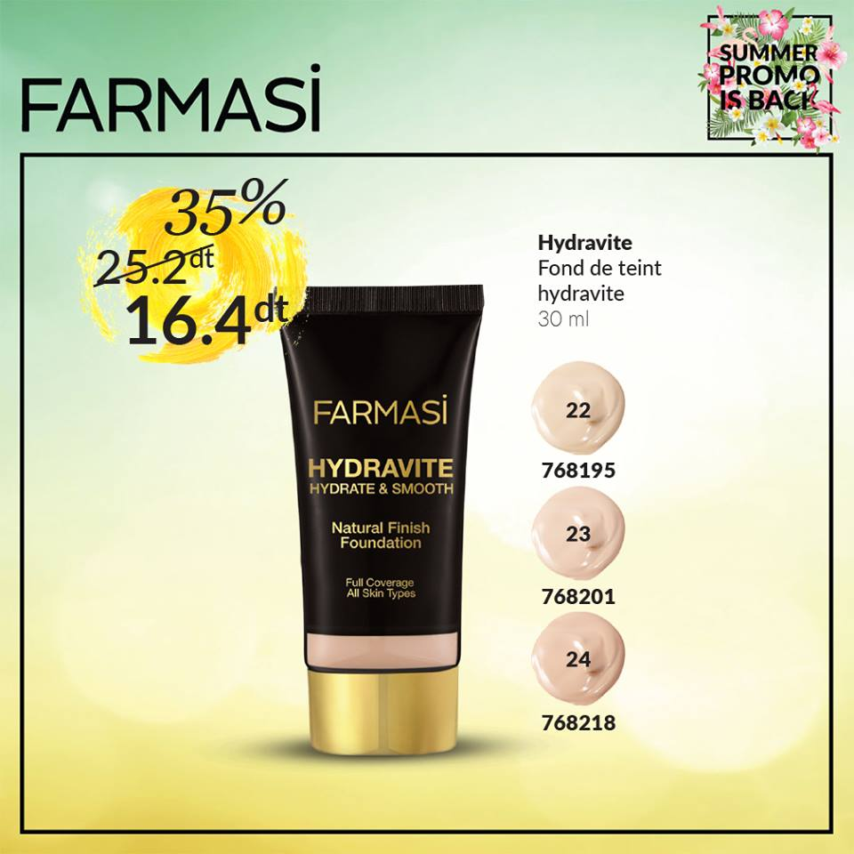 Promotion Farmasi Aout 2016