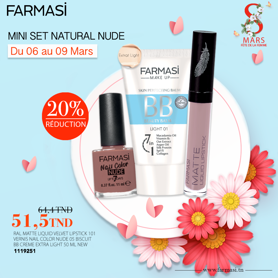 Promotions Farmasi Tunisie Mini Set Mars 2019