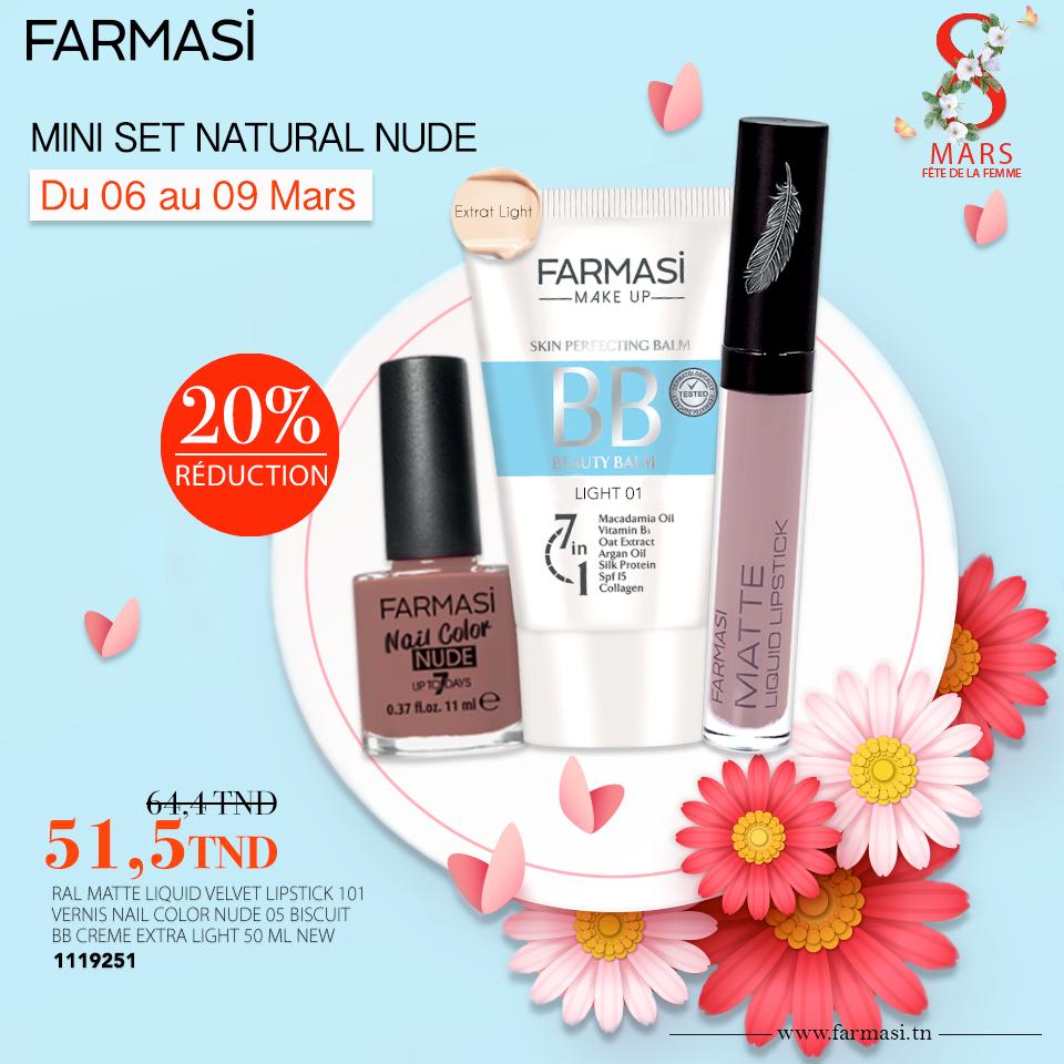 Promotions Farmasi Tunisie Mini Set Mars 2019
